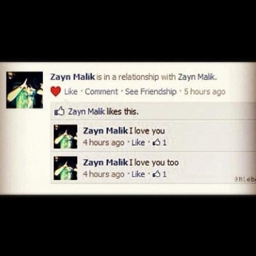 je savais que Zayn s'aimer mais a se point la mais bon c'est comme sa qu'on l'aime :)