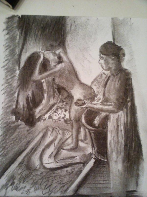 dessin du lundi au fusain