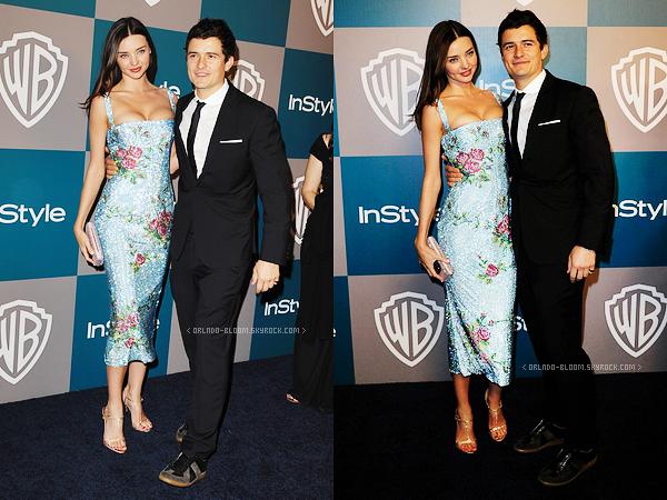 - Le 15 Janvier, Orlando et Miranda étaient à l'after-party des Golden Globes. -