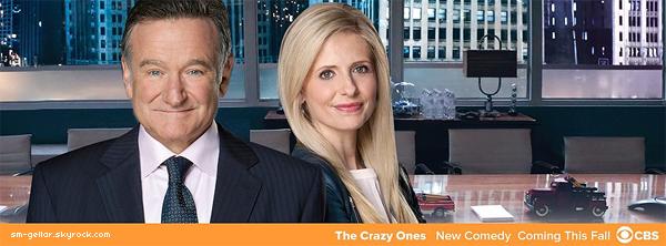"""Sarah Michelle Gellar est de retour dans la série """"The Crazy Ones"""" une comédie au format de 22 minutes qui sera diffusée sur CBS le jeudi à 21h. L'actrice jouera le rôle de la fille de Robin Williams, Sydney Roberts."""
