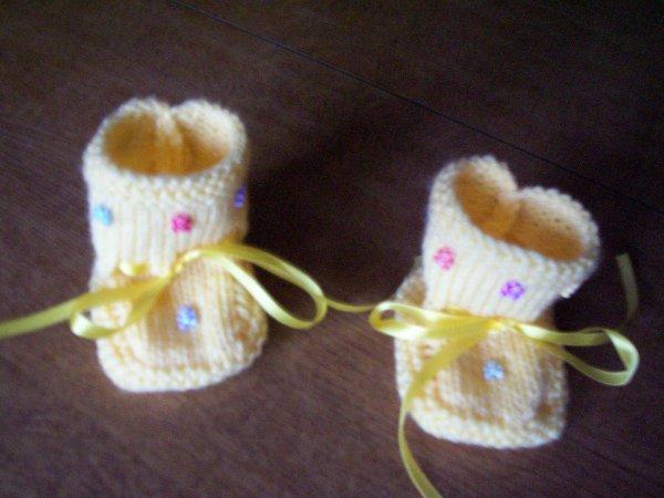 chaussons fait main