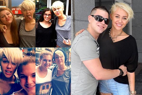 .  De nouvelles photos de Miley, dont certaines en compagnie de ses fans, ont fait leur apparition .