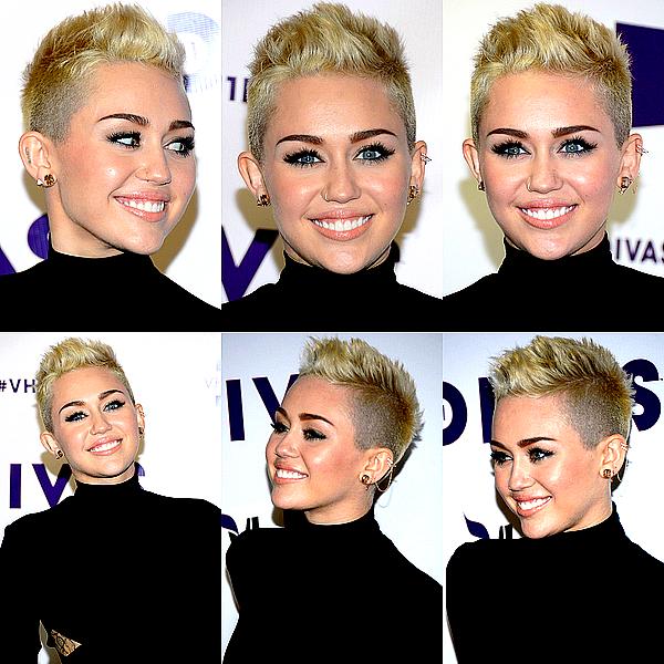. Miley était présente à la soirée « VH1 Divas » qui a eu lieu à Los Angeles, ce Dimanche 16 Décembre .  Enfin un évennement officiel qui nous donne l'occasion de retrouver notre Miley sur le tapis rouge ! J'aime assez sa robe, ce n'est pas un coup de coeur mais je la trouve originale et classe. Mil' a visiblement opté pour un look sage pour contraster avec sa tenue de scène ! Celle-ci est certes un peu chargé, mais c'est très rock et ça convient parfaitement au style de la chanson. ;)  .