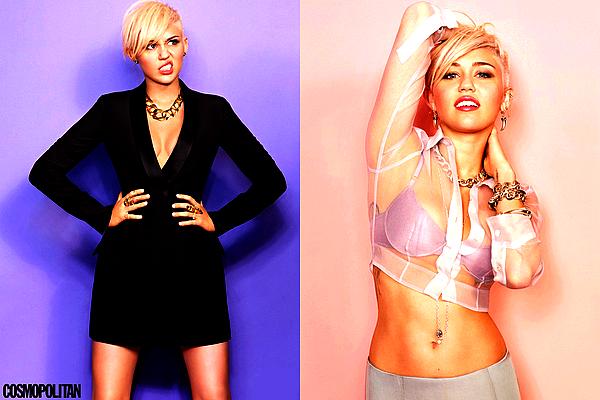 .  Miley Cyrus fait la couverture du magazine « Cosmopolitan » du mois de Mars 2013 !  .   Les premiers clichés du Photoshoot que notre belle Miley avait réalisé il y a quelques semaines viennent enfin d'apparaître sur la toile, et le moins que l'on puisse dire c'est qu'ils sont très réussis ! Je la trouve absolument superbe dessus, très sexy. J'aime les tenues qu'elle porte et je suis vraiment impatiente de découvrir l'intégralité du Shoot ! Coup de coeur pour la couverture. ♥ ♥   .