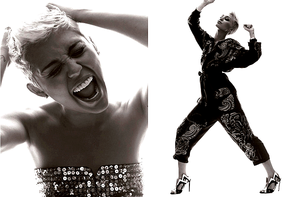.  Miley a posé pour le magazine « Elle UK » dont elle fait la couverture du numéro de Juin 2013 !  .