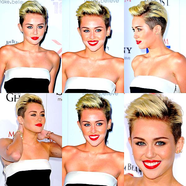 """. Miley était à l'évennement """"Maxim Hot 100 Party"""" qui s'est déroulé à Hollywood, ce Mercredi 15 Mai .  Mil' a fait honneur au classement dont elle a été élu première par le magazine (voir deux articles plus bas), en arrivant sur le tapis rouge dans une combinaison Valentino et des talons Yves Saint-Laurent. Si je n'étais pas particulièrement fan de certaines des précédentes apparitions de la jeune femme, je la trouve superbe lors de celle-ci ! J'aime vraiment beaucoup ce style, j'ai un coup de coeur pour sa tenue ainsi que sa coiffure et son make-up. Elle a sû assortir le tout de façon à créer un style chic qui lui va à merveille ! Pour ma part c'est un superbe TOP (peut être même le plus grand avec cette coupe), j'adhère complètement. ♥♥ ."""