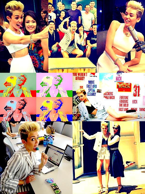 . Quelques photos de la journée d'hier, dans les studios de Ryan Seacrest puis lors du live chat Facebook  .
