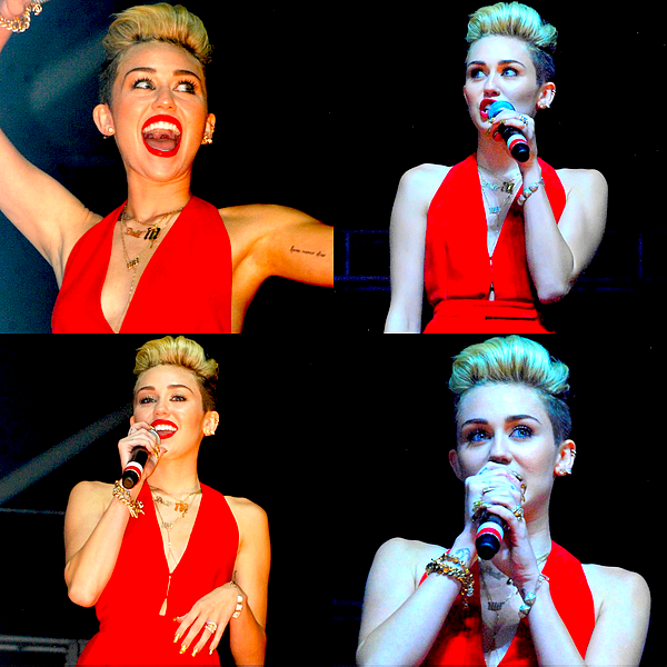 . Miley s'est rendue à une soirée organisée par MySpace au El Rey Theatre de L.A, ce Mercredi 12 Juin  .