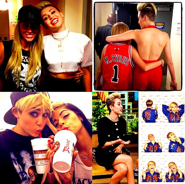 """. Miley a continué la promotion de son single en se rendant au """"Live with Kelly and Michael"""", ce 26 Juin .   Enfin une tenue """"normale"""" et en ce qui me concerne j'aime beaucoup, Miley était superbe lors de cet interview ! La vidéo est malheureusement de mauvaise qualité mais c'est la seule que nous ayons pour l'instant, je la remplaçerai si une autre apparaît.  ."""