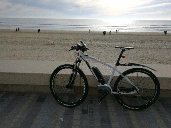 Les sables d'Olonne à vélos 22 janvier 2017