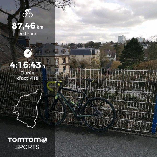 Samedi 2 mars 2019 sortie vélo en basse Normandie