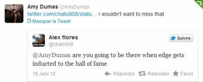 New's: Lita sera au coté d'Edge lors du Hall of Fame 2012.