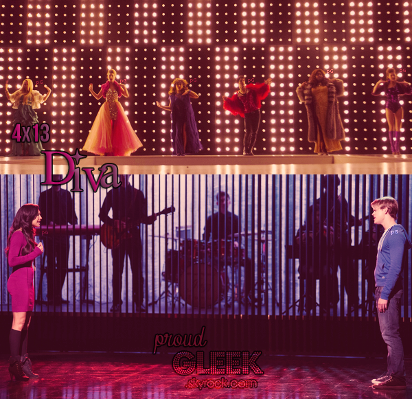Voici les stills, le résumé, les performances et les photos behind the scenes du 4x13 (Diva) !
