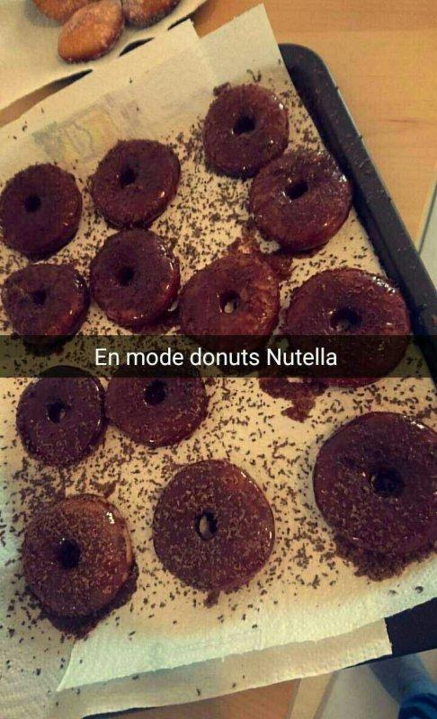 Mini donuts sucrés et Nutella