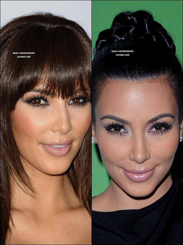 News-KimKardashian Vous preferez Kim Kardashian Avec Les Cheveux Attacher Ou Detacher  Que pensez vous de c'est photos ? Aimez vous la coiffure ?    News-KimKardashian