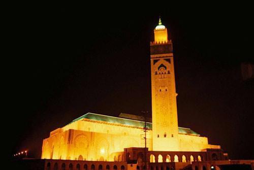 La mosquée Hassan II .