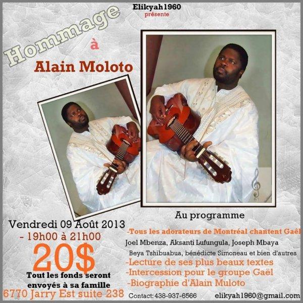 Soirée d'adoration en la mémoire d'Alain Moloto