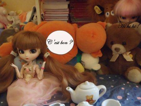 Après le thé, les princesses jouent <3