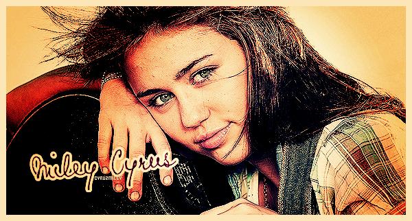 . . .  Miley Cyrus - Suis toute son actu' sur CyruzMiley !__ . Miley Cyrus, de son vrai nom Destiny Hope Cyrus, est une jeune actrice, chanteuse, compositrice née a Nashville le 23 novembre 1992. Miley débute sa carrière grâce à plusieurs petits rôles dans la série « Doc » et  dans le film de Tim Burton « Big Fish ». Elle se fait réellement connaitre en 2006 dans la série Disney « Hannah Montana » où elle détient le rôle principal de Miley Stewart, simple adolescente le jour et pop star la nuit. En plus de jouer dans Hannah Montana, Miley a également tenu le rôle principal de Hannah Montanta : le Film en 2009 et dans The Last Song en 2010. Courant 2011/2012, on pourra voir Miley en tête d'affiche des films « L.O.L » , « So Undercover » et un film d'horreur ; « Wake ».  En plus d'être connue pour ses talents d'actrice, Miley a une carrière musicale ; depuis 2006 elle interprète elle-même les titres d'Hannah Montana rassemblés dans deux albums consécutifs. En 2008 elle sort l'album « Breakout » puis « Can't Be Tamed », qui la détachent un peu de l'image sage d'Hannah Montana. En 2011 la série Hannah Montana prend fin, et Miley quitte définitivement l'univers Disney pour se consacrer à sa tournée « Gypsy Heart Tour » qui a débuté mi-mai 2011 dans les pays du sud. Miley Cyrus est désormais fiancée à l'acteur et sa co-star Liam Hemsworth.______Illustration de la webmiss. . . .