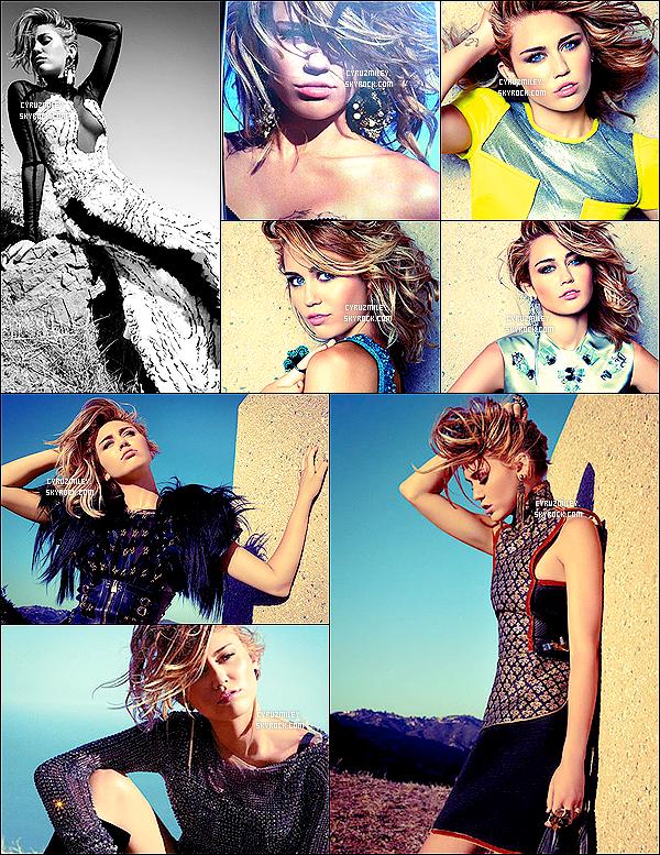 . • Miley Cyrus à réalisée un shooting pour le célèbre magazine américain « Marie Claire » .. __-Vos avis ?.
