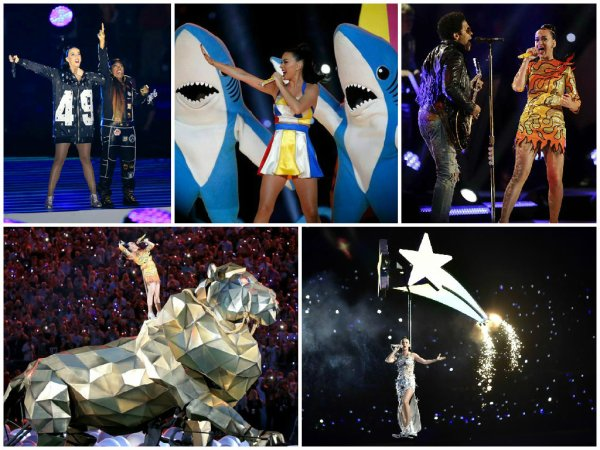 News People : Prestation de Katy Perry au SuperBowl 2015