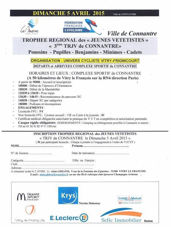 prochain TRJV organisé par l'UCVF dimanche 5 avril
