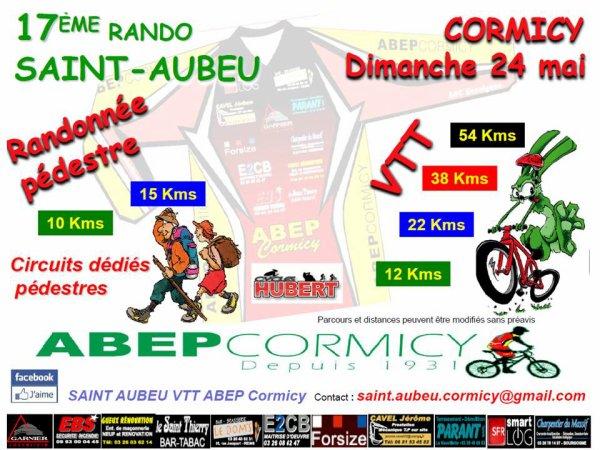 dimanche 24 mai 2015 Randonnée de St Aubeu à Cormicy 51