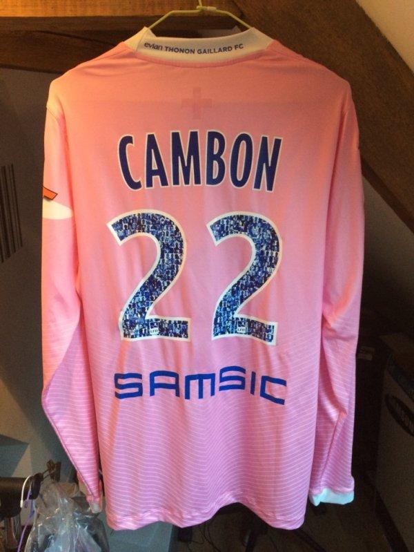 Maillot ETGFC porté par Cédric Cambon