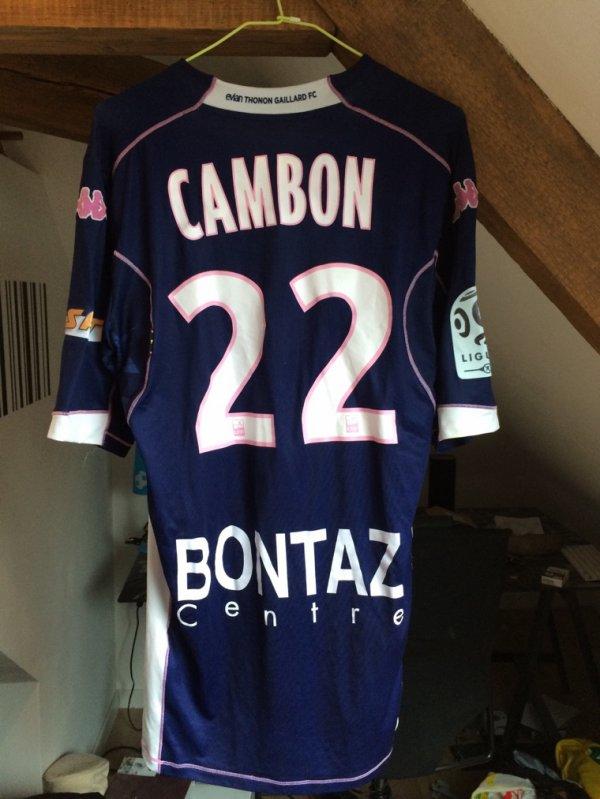 Maillot ETG porté contre Nantes par Cédric CAMBON