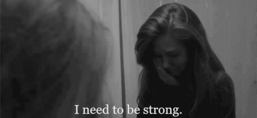 J'ai lu quelque part que l'important dans la vie n'est pas nécessairement d'être fort, mais de se sentir fort.