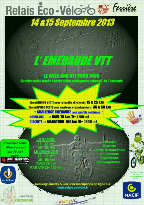 Sortie VTT du 15 Septembre 2013