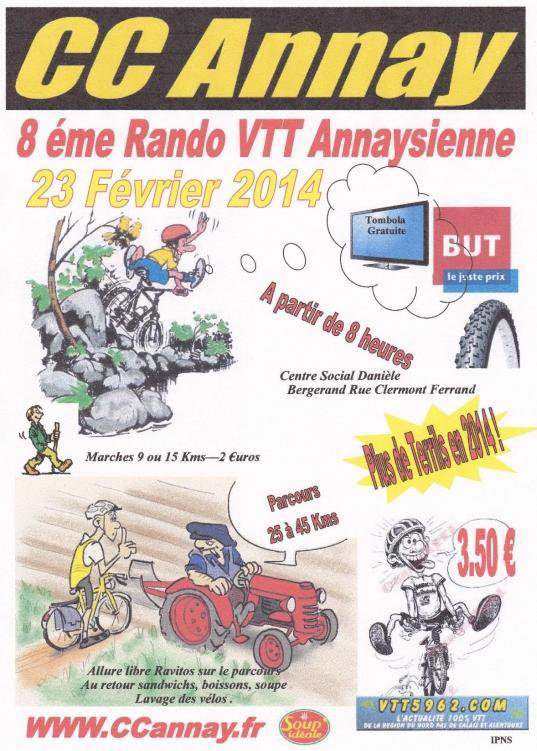 Sortie VTT du 23 fevrier 2014