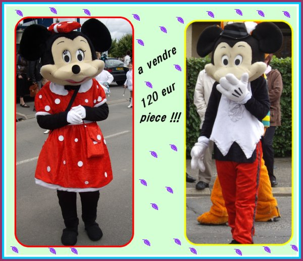 Mickey et minnie A VENDRE !!!