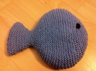 Doudou poisson que j'ai tricoter par mes soins