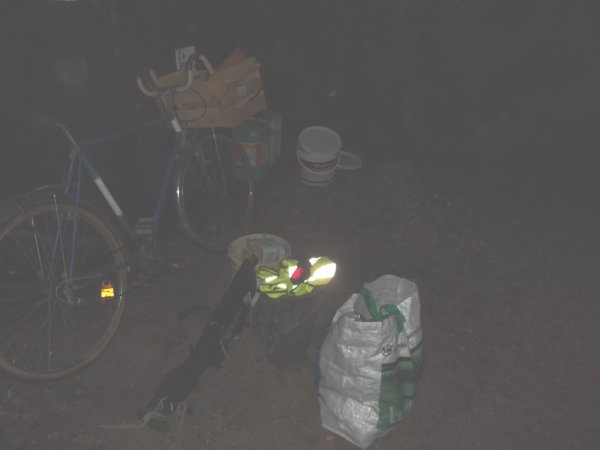 24 jan 18h15 modification du chargement et prépratif pour déplacement nocture notement une zone boisée