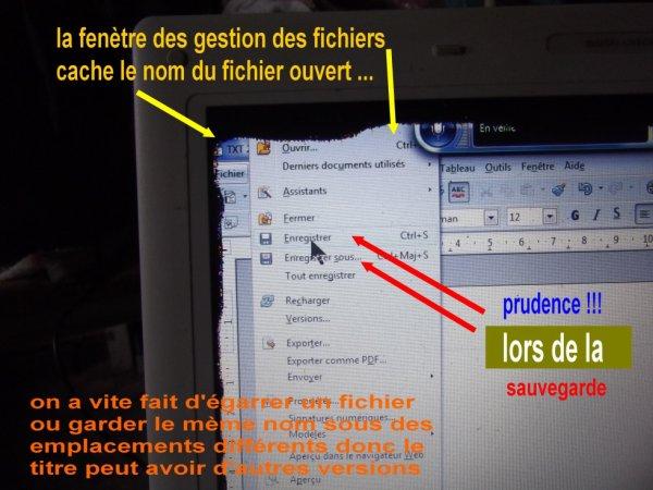 20 FEV prudence lors de modif de fichiers avec les versions postèrieures à Win-XP