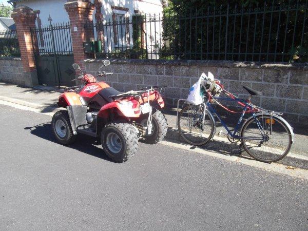 un quad en ville