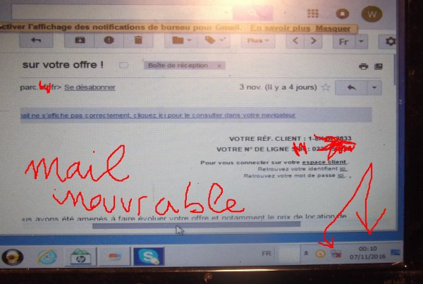 SIT 07 0052a NOV mail opé Net inexploitable sur ordi récent