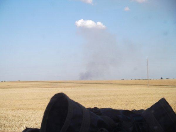 17 JUL encore un départ de feu dans les champs