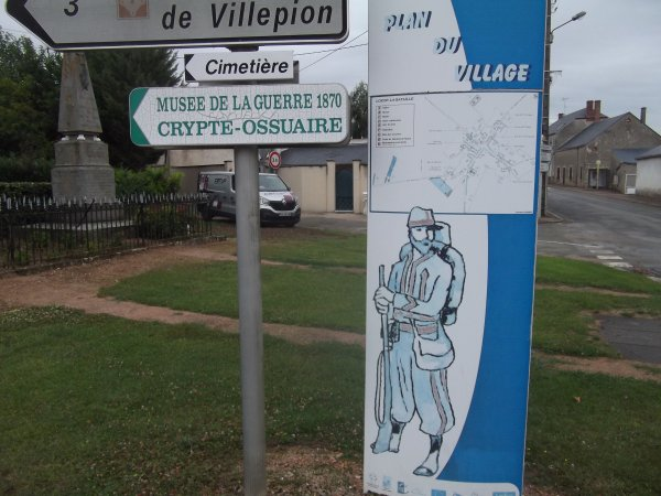 en revenant de chez ami blog jf86 suis passé à Loigny la bataille