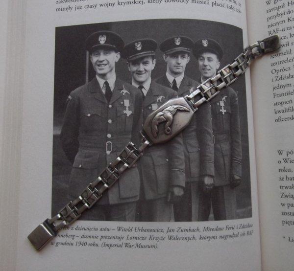 pour amateurs d'histoire : la gourmette de mon oncle pilote polonais de la RAF de 1940 à 1945