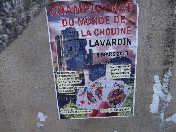 une autre affiche où l'on voit les ruines du chateau de Lavardin