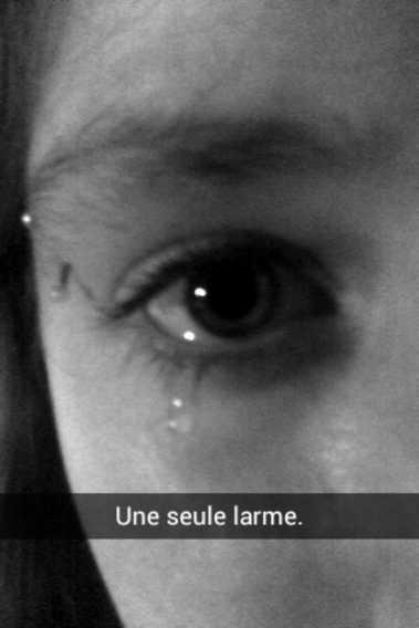 Une seule larme