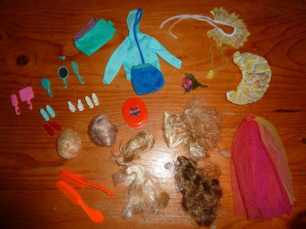 accessoires Barbie années 1970/1980