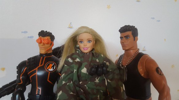 Barbie et les action man !