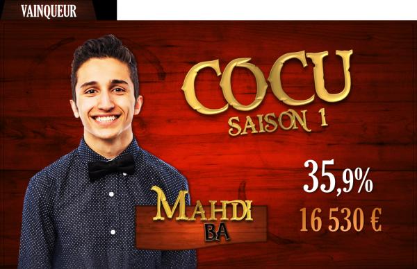 Vainqueur saison 1 : Mahdi Ba