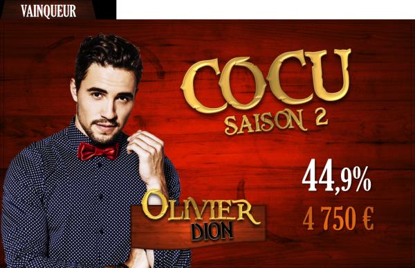 Vainqueur saison 2 : Olivier Dion