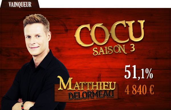 Vainqueur saison 3 : Matthieu Delormeau