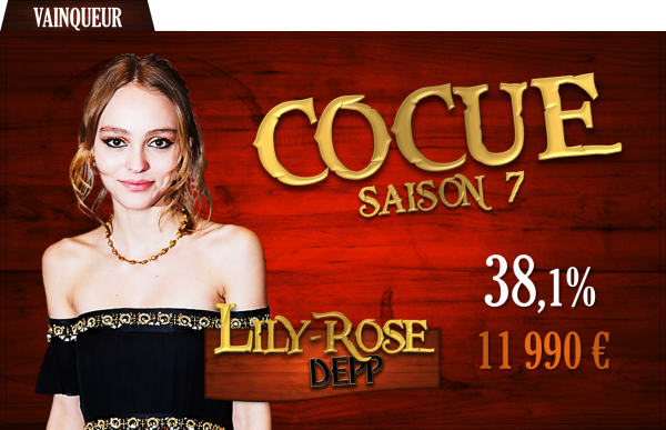 Vainqueur saison 7 : Lily-Rose Depp