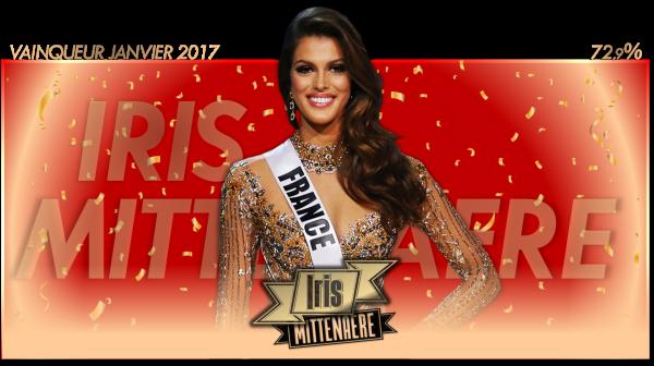 Vainqueur Janvier 2017 : Iris Mittenaere
